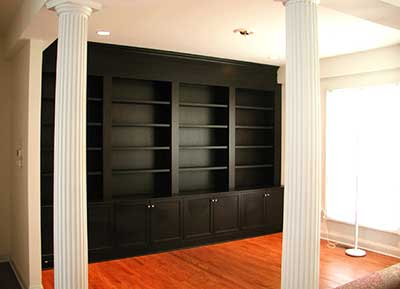 Bookcase with chocolate finish