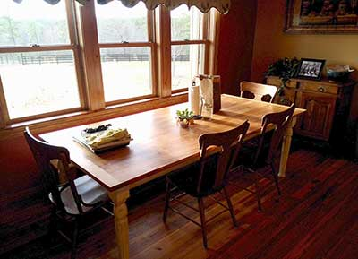 custom made farm maple farm table