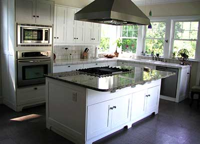 cook top in kitchen island